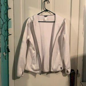 White zip up